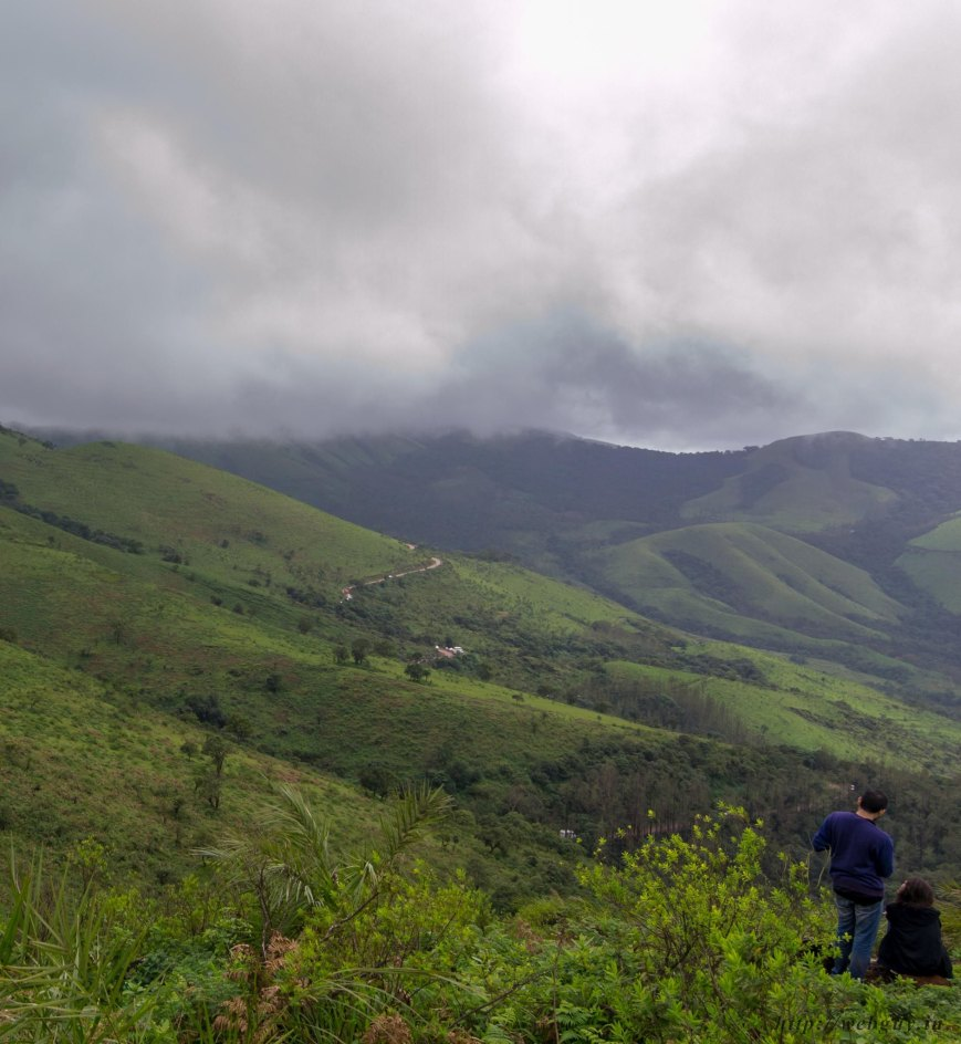 clouds and scenery in chikmagalur