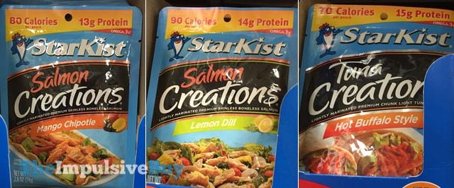 StarKist Mango Chipotle and Lemon Dill Salmon Creations and Hot Buffalo Style Tuna Creations