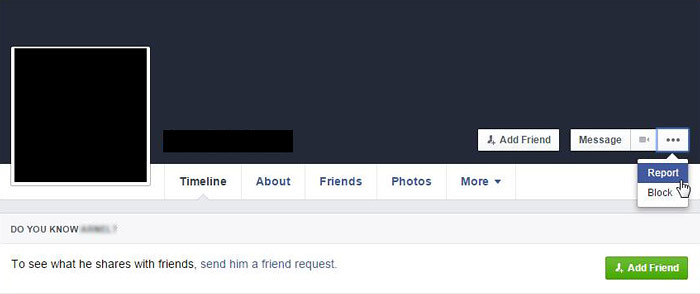 Report Fake Facebook Account 1