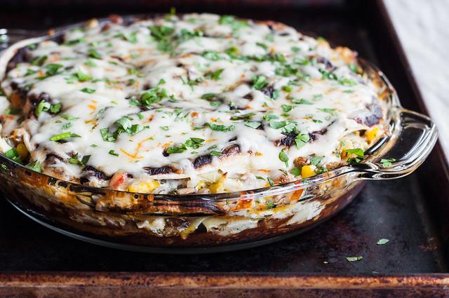 How to make your favorite enchiladas recipe into enchilada PIE!