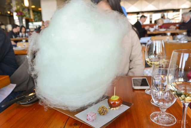 confection plate a selection of sweets and cotton candy