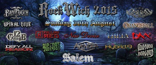 Flyer showing the line up for Rockwich 2015