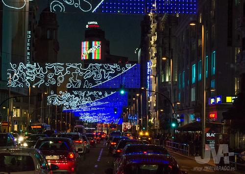 Gran Vía y Callao (Madrid) Navidad 2015
