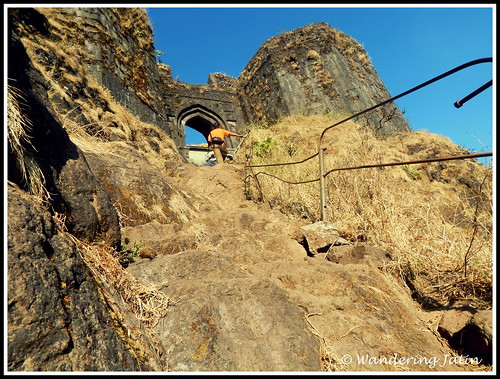 Hiking the Baale Killa at Rajgad Fort