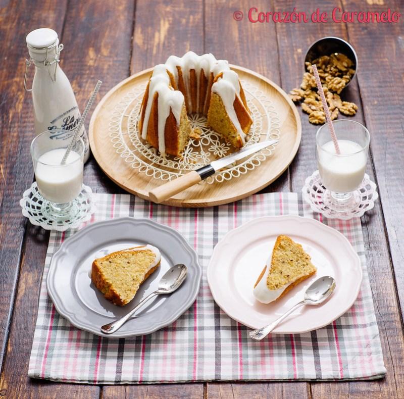 Bundt Cake de Nata y Nueces