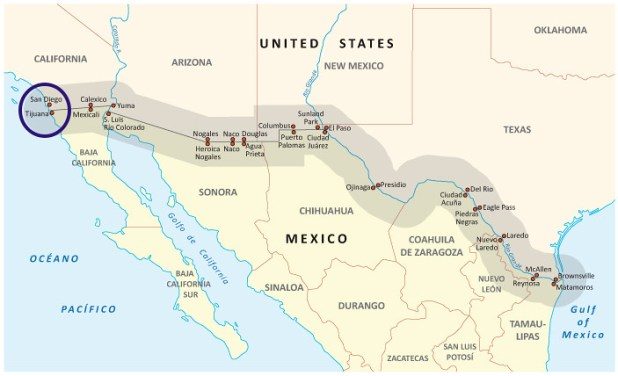 Frontera Mexico Estados Unidos