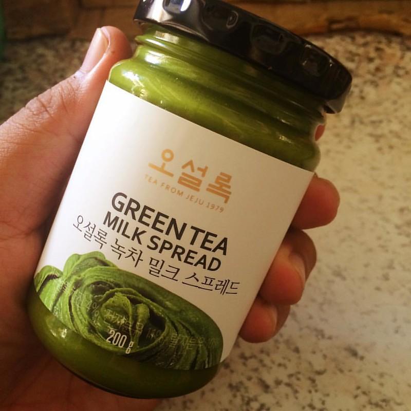 อร่อย here here แยมชาเขียว OSULLOC#osulloc#greentea#jeju#jejuisland#korea