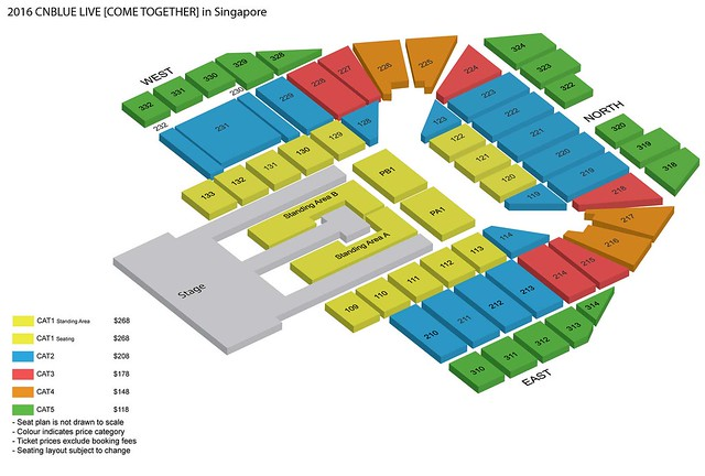CNBLUE Come Together Live in Singapore 2016 Seating Plan