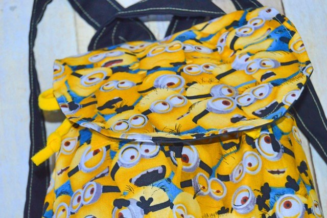 Little Explorer's Backpack with minion fabric