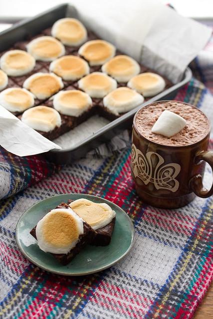 Hot Cocoa Brownies