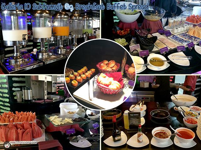 Galleria 10 breakfast buffet