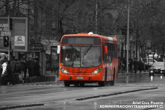 Transantiago - Express de Santiago Uno - Marcopolo Gran Viale / Scania (CJRS54)
