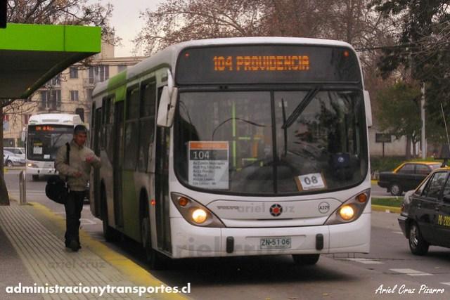 Transantiago - Inversiones Alsacia - Marcopolo Gran Viale / Volvo (ZN5106)
