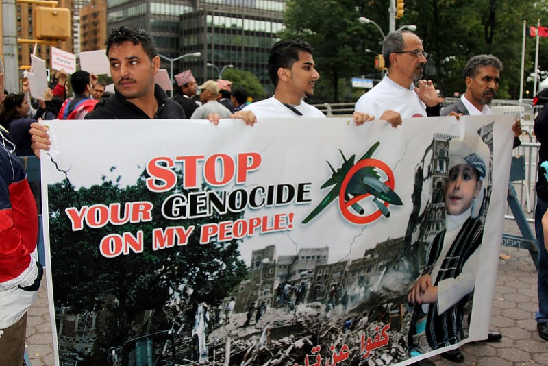 Protest Against Saudi US-Backed War on Yemen at UN in NYC