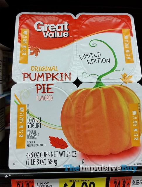 Great Value Limited Edition Pumpkin Pie Yogurt