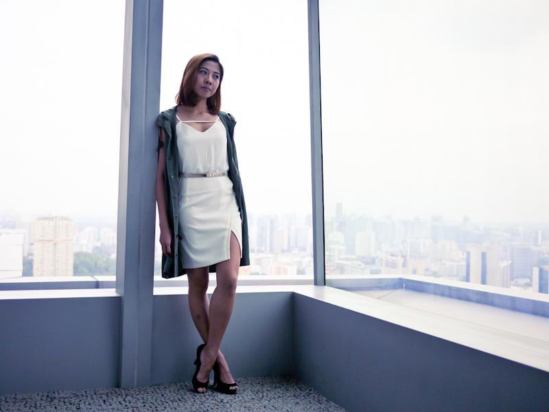 white dress look singapore fashion