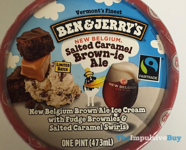 Ben & Jerry's Limited Batch New Belgium Salted Caramel Brown-ie Ale Ice Cream