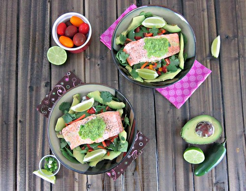 Baked Salmon with Jalapeno Lime Butter
