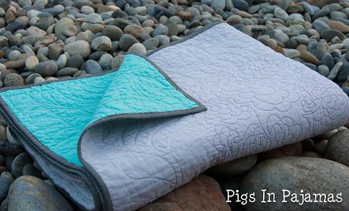 Rainbow sampler quilt binding