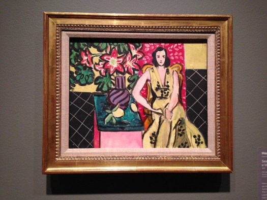 Henri Matisse: Seated Woman with a Vase of Amaryllis