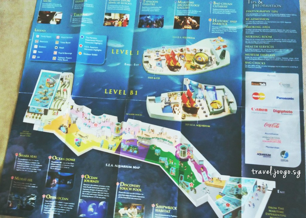 SEA Aquarium Map - travel.joogo.sg