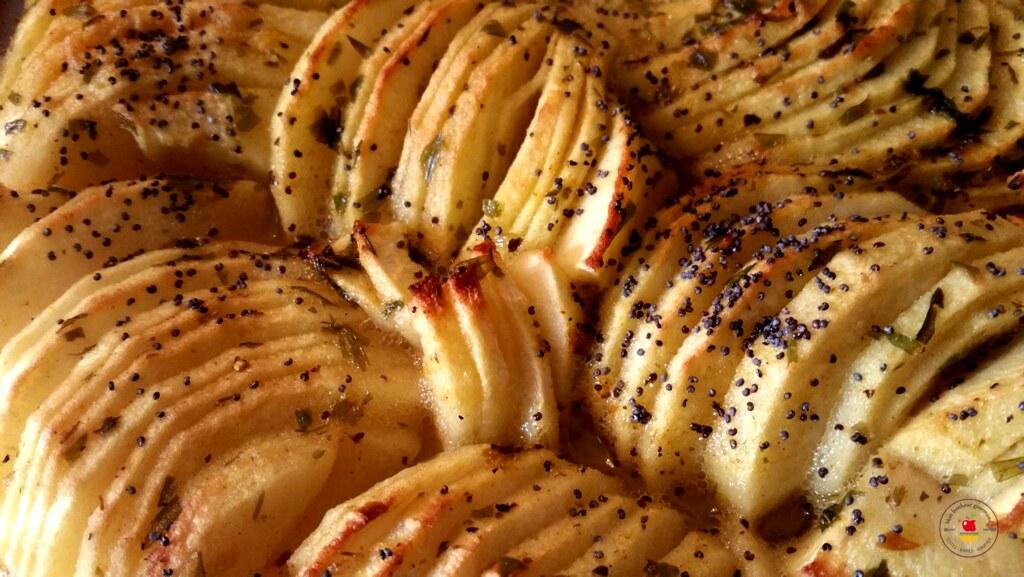 pommes au curry, estragon et pavot