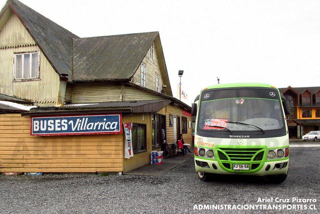 Buses Villarrica - Villarrica - Inrecar Géminis / Mercedes Benz (FJGB58)