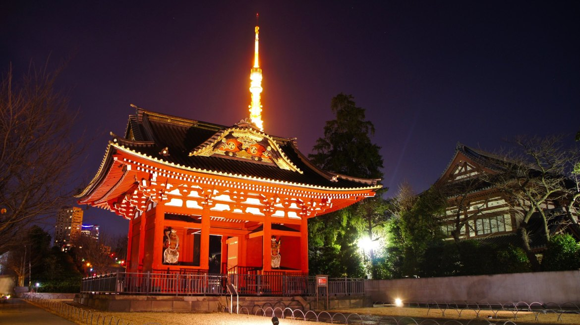 Tokyo Tower and Zojoji Temple