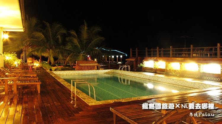 15百悅飯店游泳池夜晚