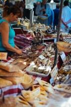 Market in Lourmarin: charcuterie