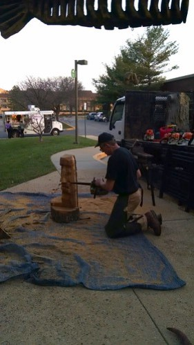 Chain Saw Carving Demonstration at Artomatic