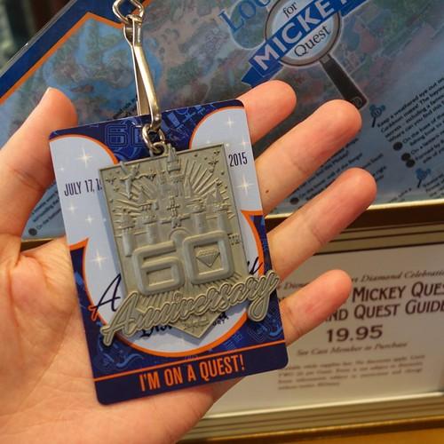 メダルはこれ。クエストをクリアしなくても指定されたショップでマップ見せればもらえる。