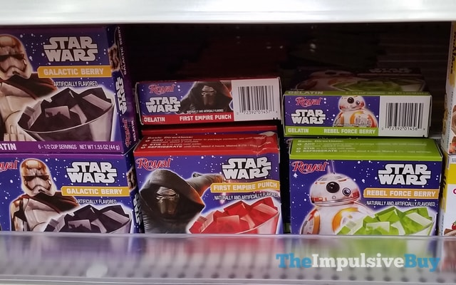 Royal Star Wars Galactic Berry, First Empire Punch, and Rebel Force Berry Gelatin