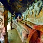 India - Andhra Pradesh - Vijayawada - Undavalli Caves - Reclining Vishnu - 16