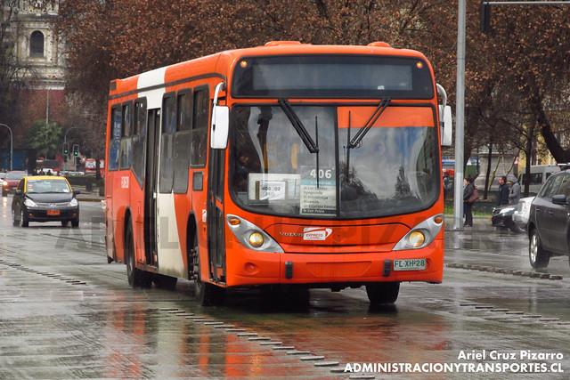 Transantiago - Express de Santiago Uno - Marcopolo Gran Viale / Volvo (FLXH28)