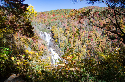 Whitewater Falls with Fall Leaves-001