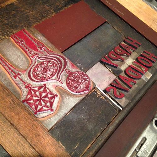 Letterpress printing at Porchlight Press