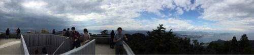 山頂展望台からの景色をどうぞ!