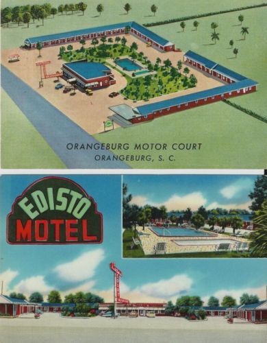 Edisto Motel and Orangeburg Motor Court front