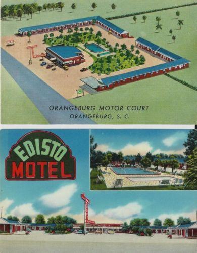 Edisto Motel and Orangeburg Motor Court front