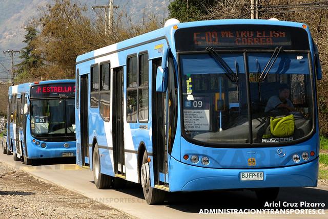 Transantiago - Unitran - Busscar Urbanuss Pluss - Mercedes Benz (BJFP55)