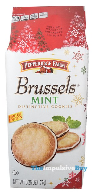 Pepperidge Farm Limited Edition Brussels Mint Cookies