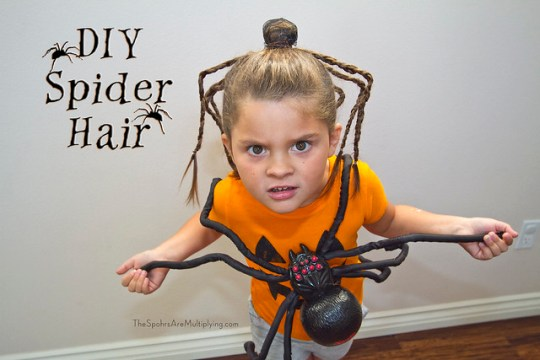 DIY Spider Hair