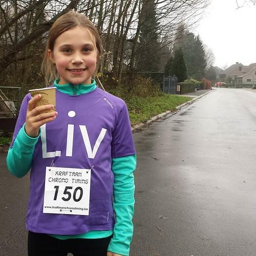 De jongste deelnemer ... 5,5 km op 35min bij de eindejaarsjogging te Kampenhout. #trots #liv #nevernotrunning #iloverunning #instarunners
