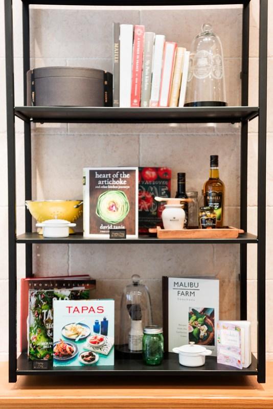 Cookbook display - Maille, Flatiron NYC