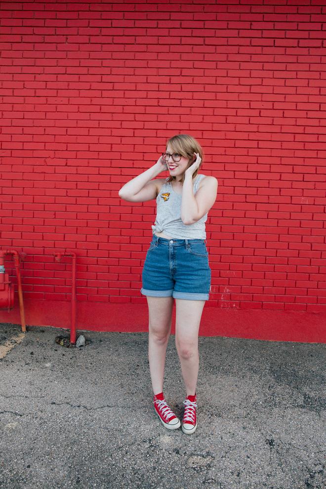 pizza pin high-waisted shorts8