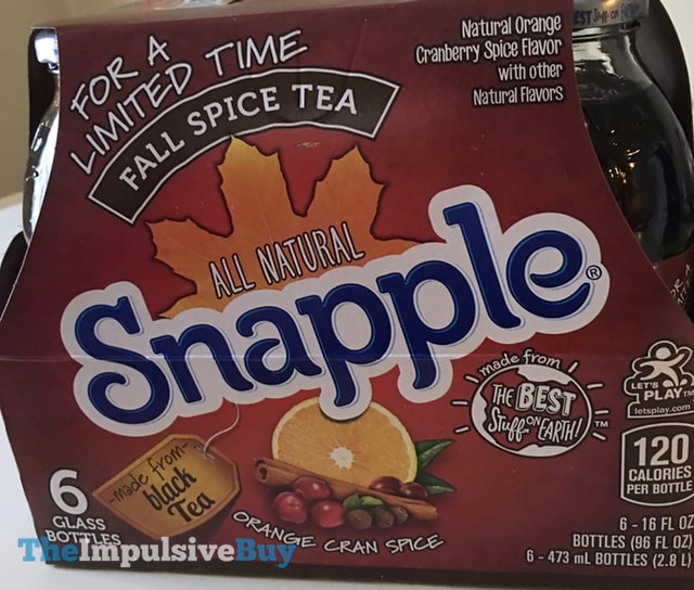 Snapple Fall Spice Tea