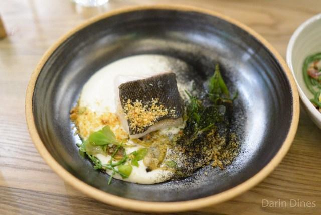 Cod Burnt Onion, Clams, Purslane