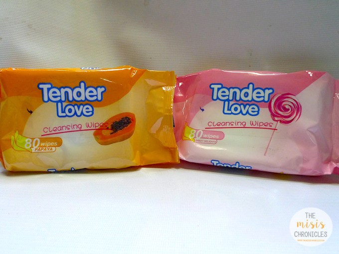tender Love cleansing wipes