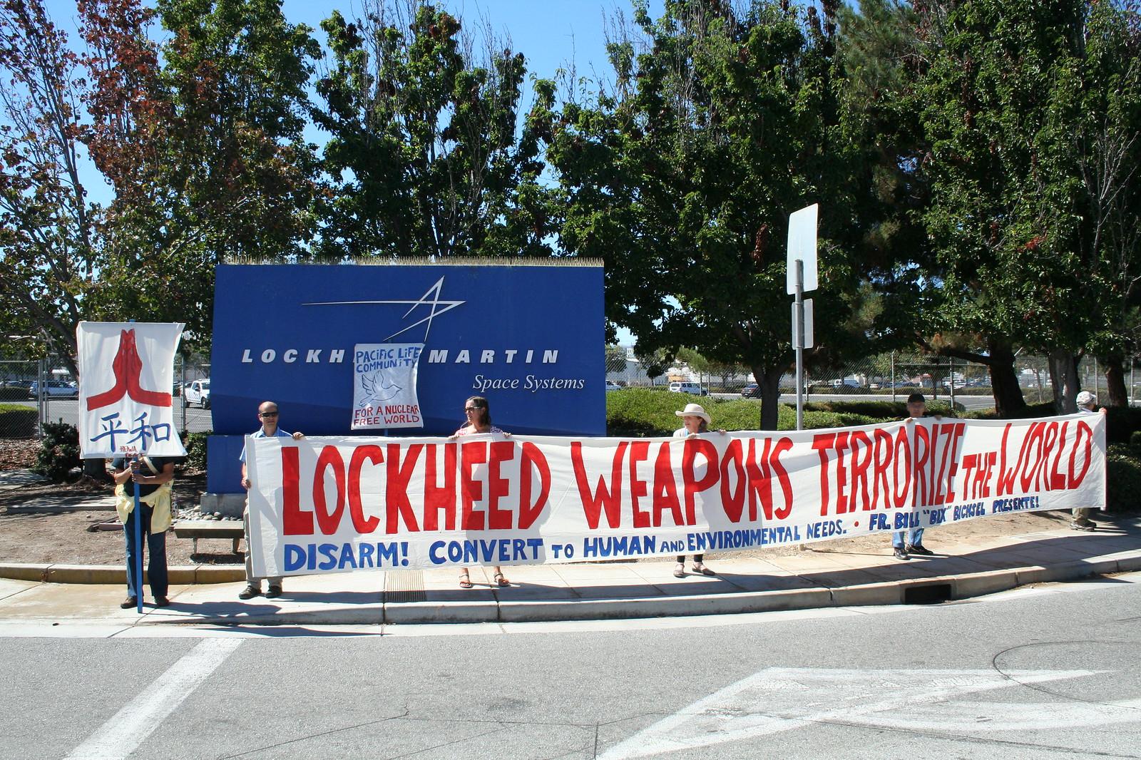 Sunnyvale, CA Peace Vigil at Lockeed Martin 2016 (5)